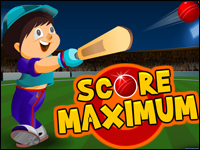 Score Maximum Game - Cricket Games