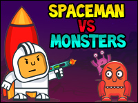 Spaceman Vs Monsters Game - Physics Games
